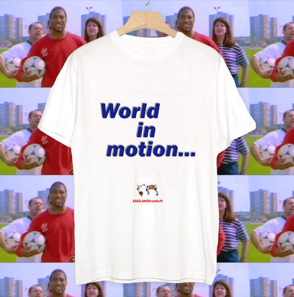 England New Order World In Motion T Shirt John Barnes