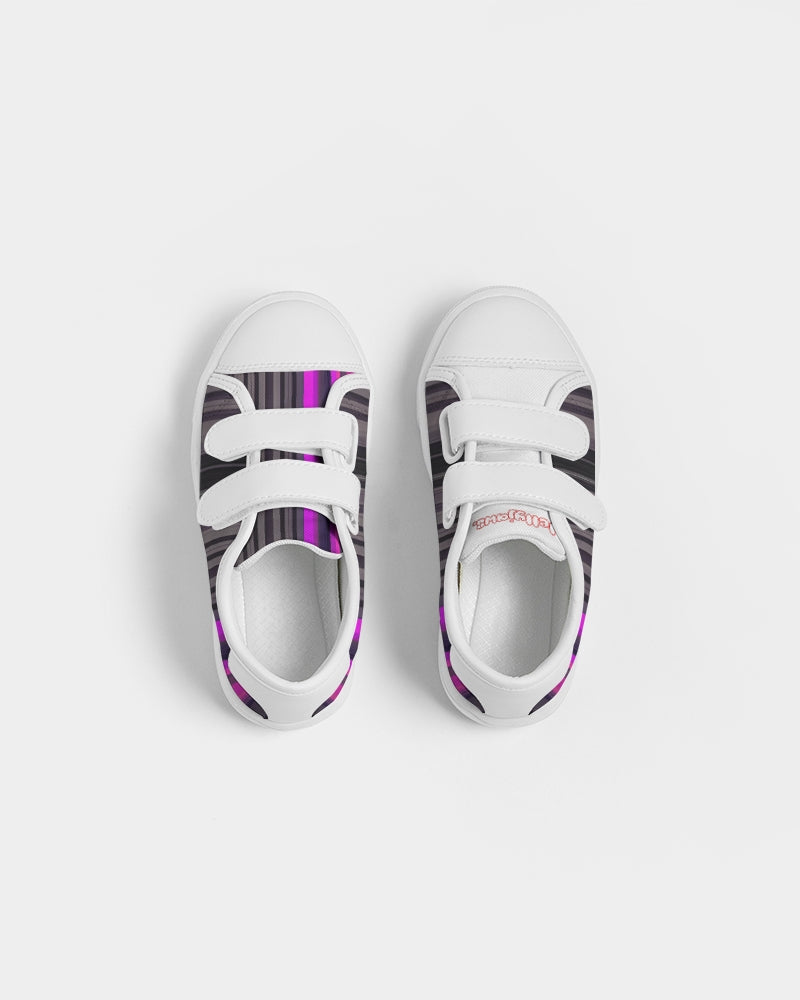 jellyjaws. UltraViolet - Kids Velcro Canvas Trainers