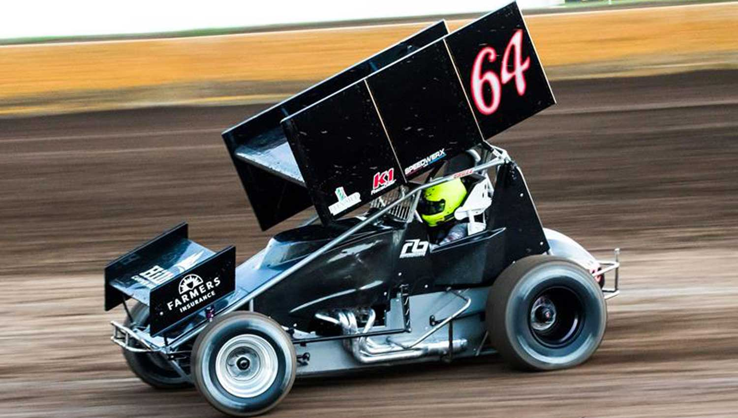 Bowers Hustles to Second-Place Finish at Clay County Fair Speedway