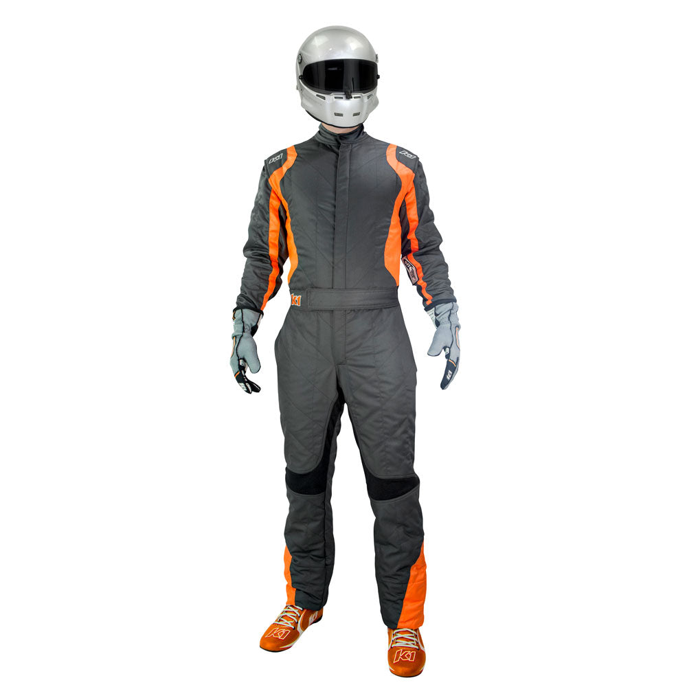 Precision 2 Suit Gray/Orange Front