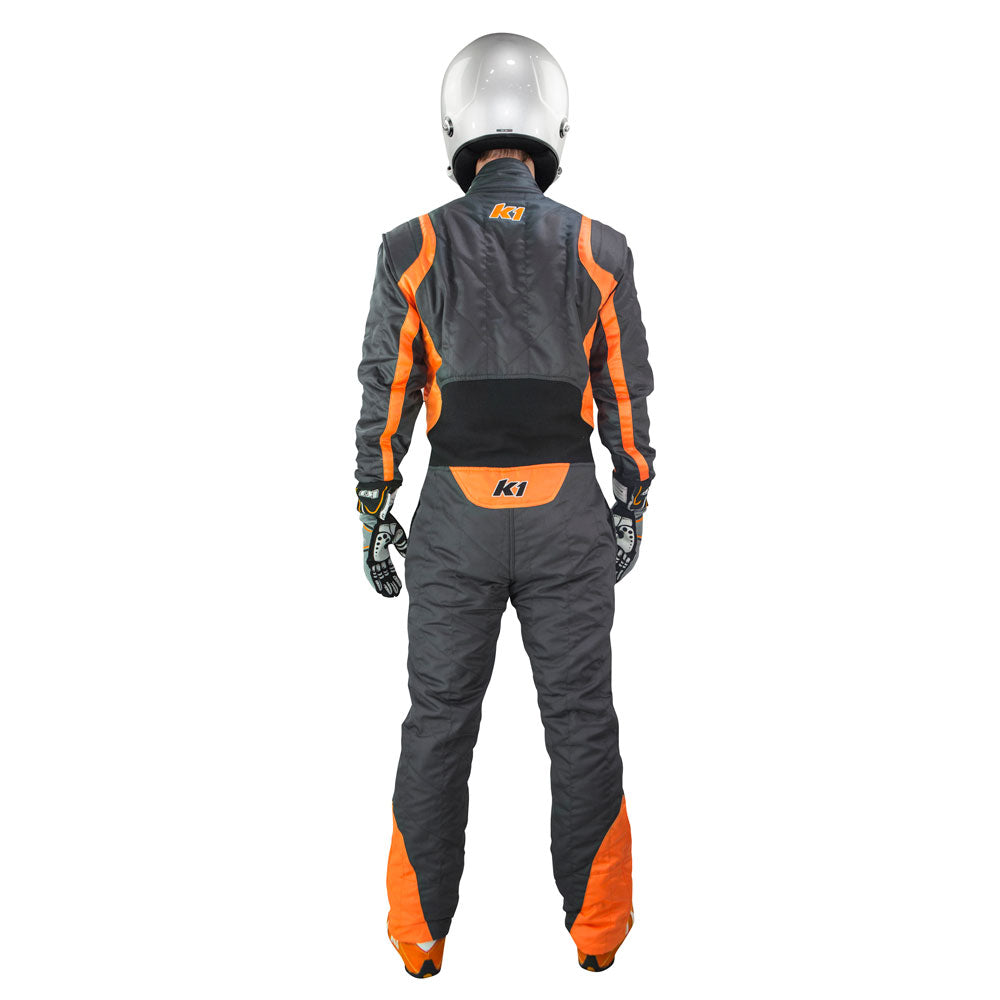 Precision 2 Suit Gray/Orange Rear
