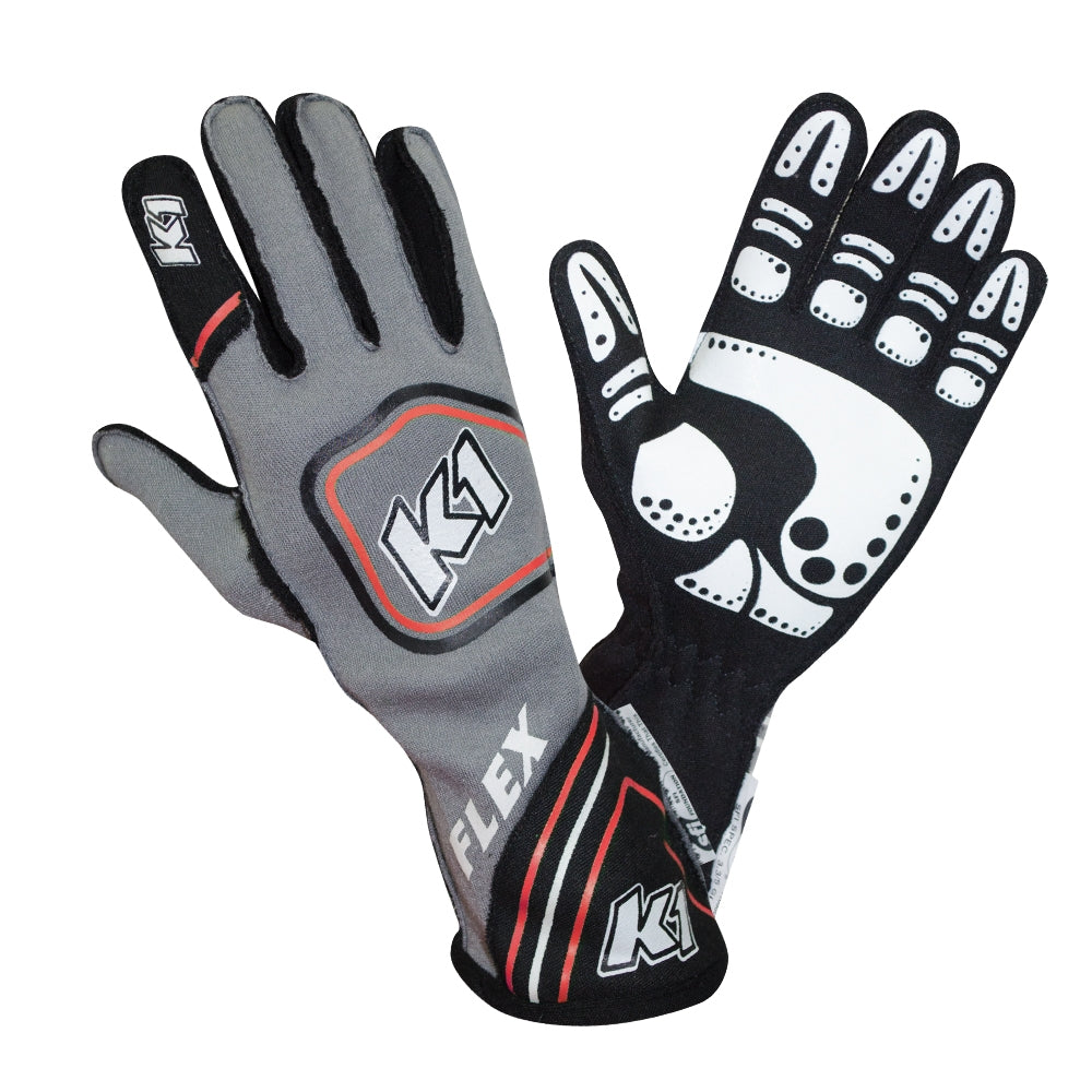Flex Glove Red Gray