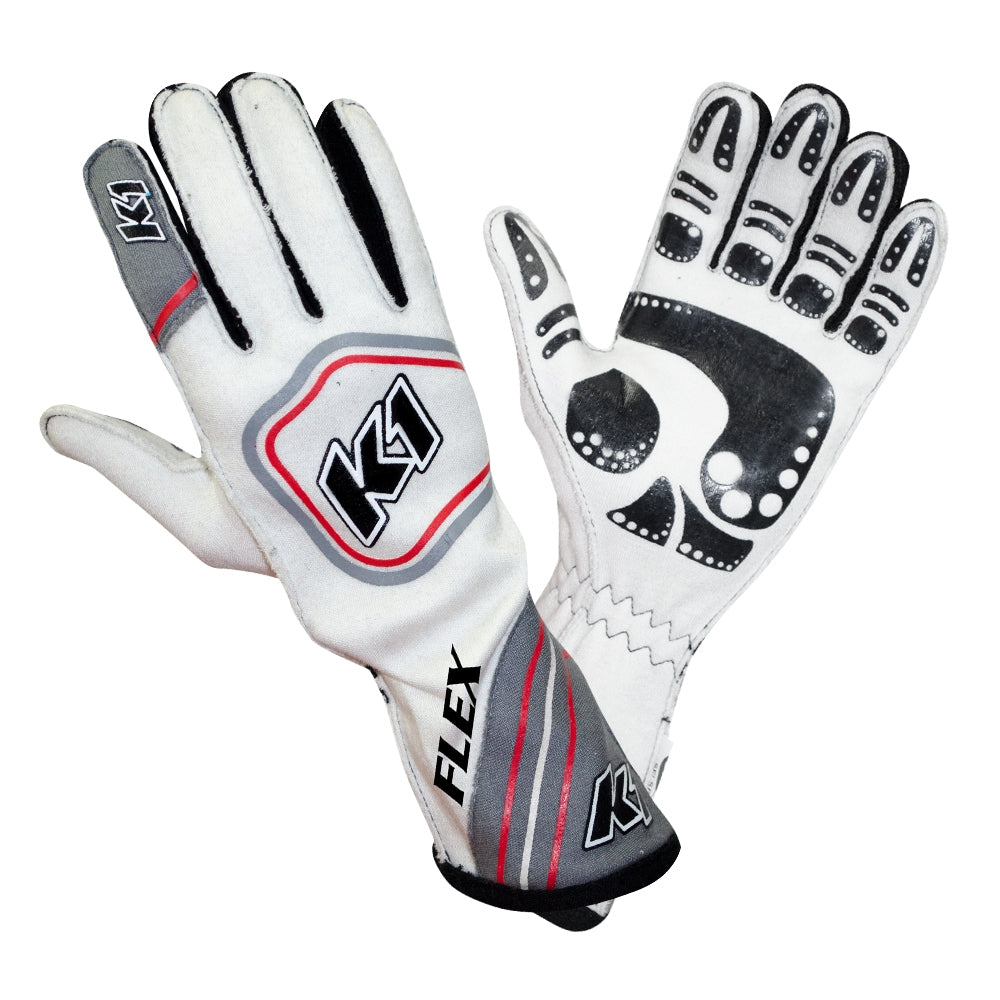 Flex Glove Gray White