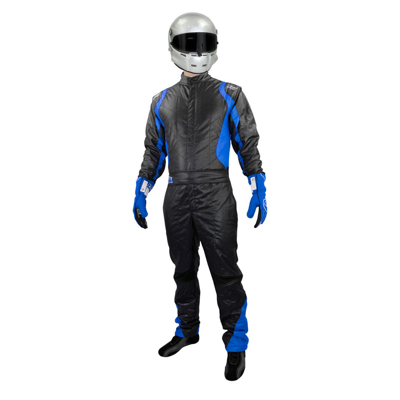 Precision 2 suit black/blue front