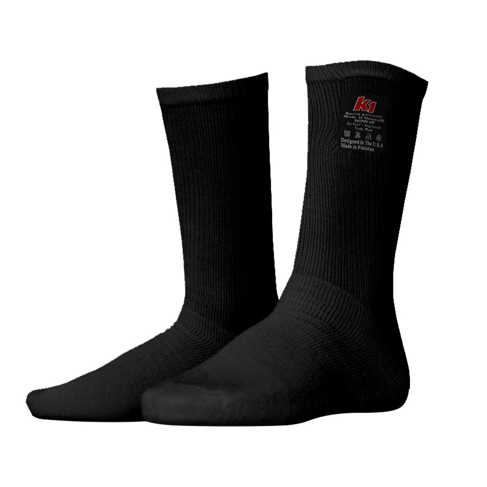 K1 Auto Racing - Nomex Fire Socks Black