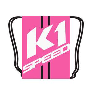 K1 Drawstring Bag - Pink/white