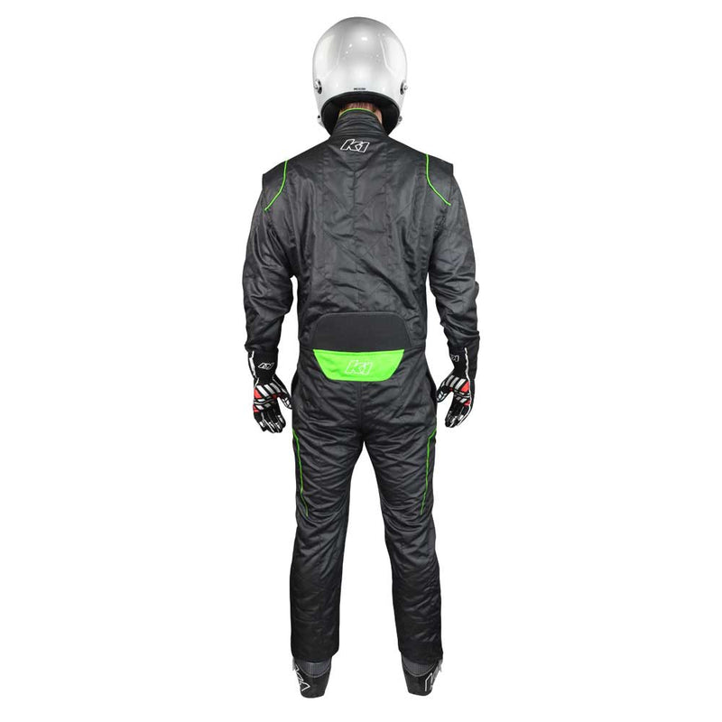 GT2 suit black/flo green back