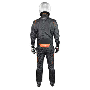 GT2 suit black/flo orange back