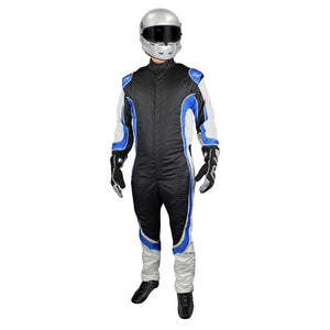 Champ suit black/blue front