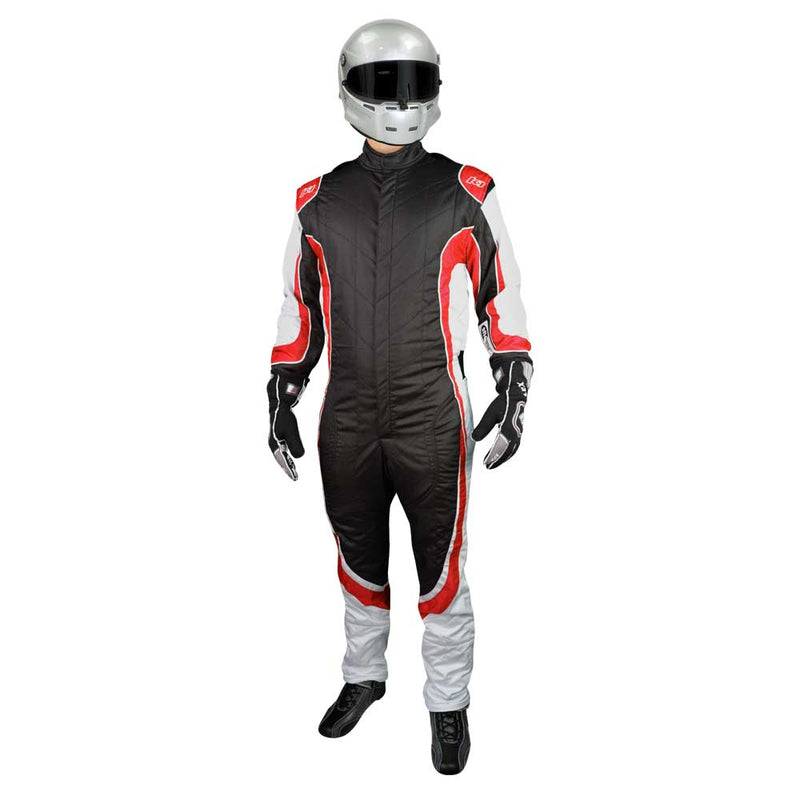 Champ suit black/red front
