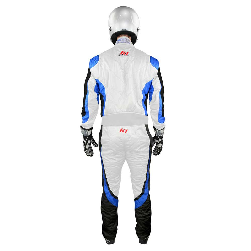 Champ suit white/blue back