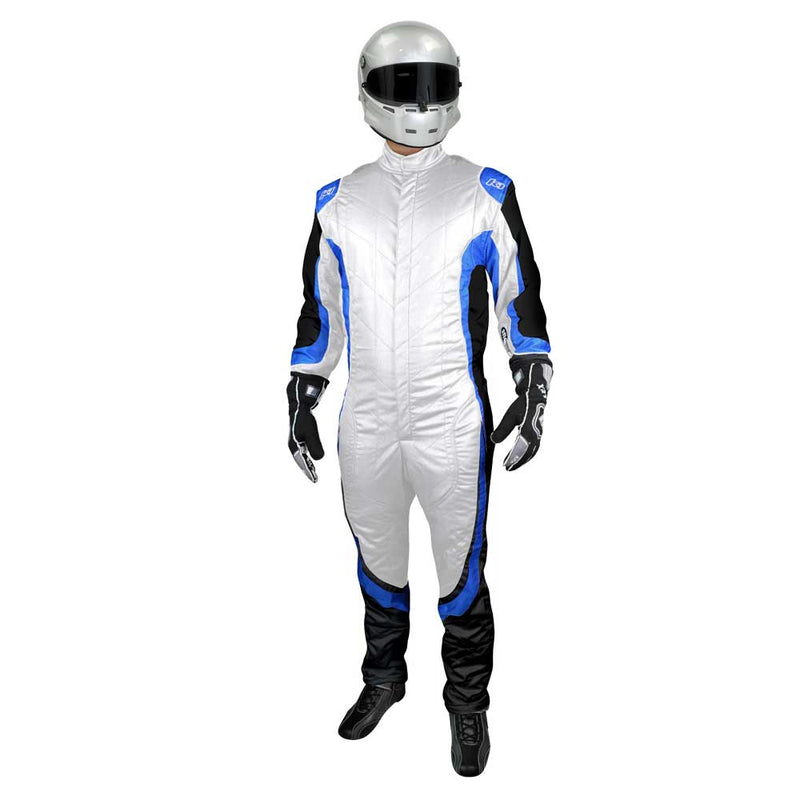 Champ suit white/blue front