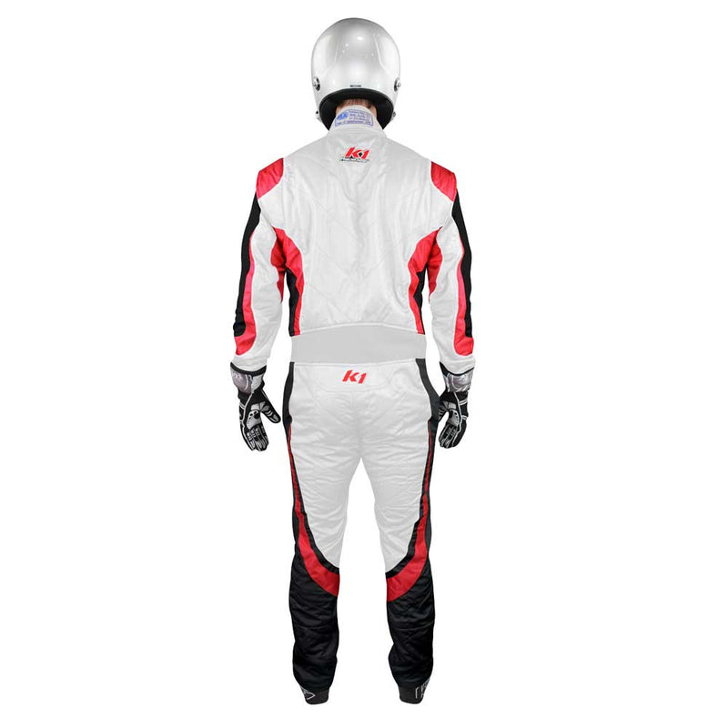 Champ suit white/red back
