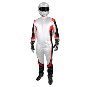 Champ suit white/red front