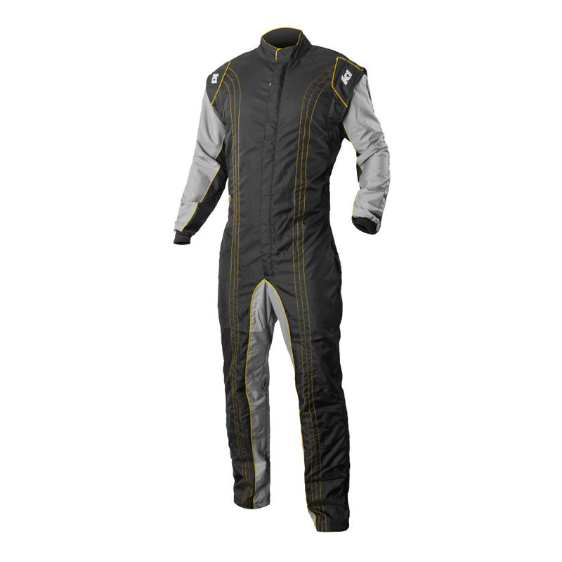 K1 RaceGear GK2 Kart Racing Suit CIK-FIA Level 2 - Yellow