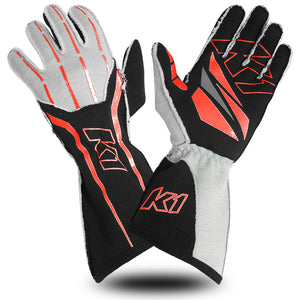 K1 RaceGear GT1 Nomex Auto Racing SFI Glove - Red