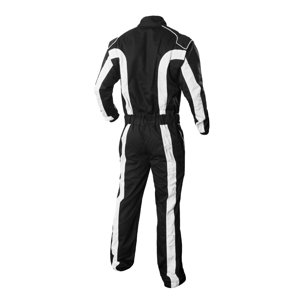 K1 Race Gear Triumph 2 Single Layer SFI-1 Proban Cotton Fire Suit Black//White, Medium