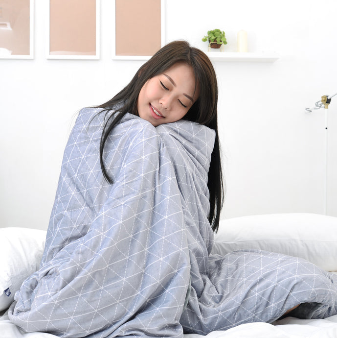 King Size Size: Cozy Minky Weighted Blanket