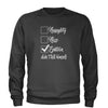 Naughty, Nice, Epstein Didn't Kill Himself Adult Crewneck Sweatshirt