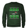 Dachshund Through The Snow Ugly Christmas Adult Crewneck Sweatshirt