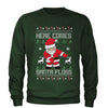 Here Comes Santa Floss Ugly Christmas Adult Crewneck Sweatshirt