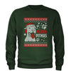 Merry Pitmas Pitbull Ugly Christmas Holiday  Adult Crewneck Sweatshirt