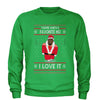 You're Santas Favorite Ho Ugly Christmas Adult Crewneck Sweatshirt