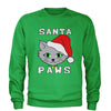 Santa Paws Cat Kitten Ugly Christmas  Adult Crewneck Sweatshirt