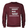 Naughty, Nice, An Attempt Was Made Christmas Holiday Adult Crewneck Sweatshirt