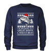 Dreaming Of A Great White Christmas Adult Crewneck Sweatshirt
