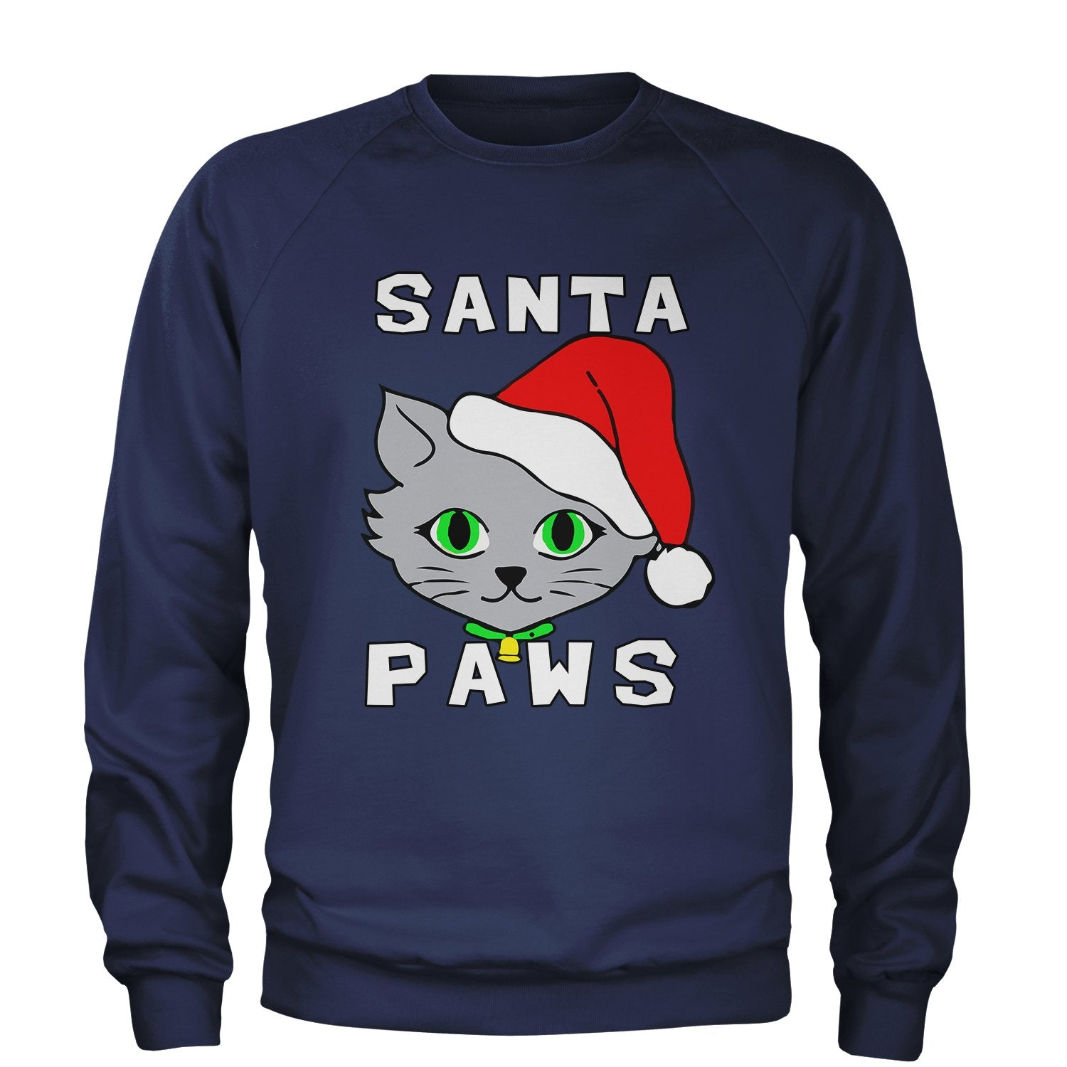 Santa Paws Cute Cat Collage Ugly Christmas Sweater Kitty 3D Print MEDIUM