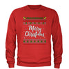 Merry Christmas Ugly Sweater Adult Crewneck Sweatshirt