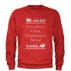 He Knows When You're Sh-tfaced Ugly Christmas Adult Crewneck Sweatshirt