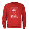 UFO Believe - Unicorn Beam Me Up Adult Crewneck Sweatshirt