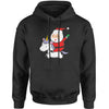 Playful Santa Claus Riding A Unicorn Adult Hoodie Sweatshirt
