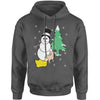 Snowman With Dog Peeing Ugly Christmas Adult Hoodie Sweatshirt