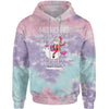 Ho Ho Ho Santa Riding A Unicorn Ugly Christmas Tie-Dye Adult Hoodie Sweatshirt