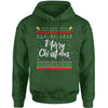 Merry Christmas Ugly Sweater Adult Hoodie Sweatshirt