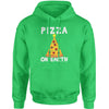 Pizza On Earth Christmas Tree Adult Hoodie Sweatshirt
