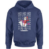 Ho Ho Ho Santa Riding A Unicorn Ugly Christmas Adult Hoodie Sweatshirt