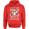 Believe It! Black Santa Claus Ugly Christmas Adult Hoodie Sweatshirt