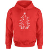 Lit AF Christmas Tree  Adult Hoodie Sweatshirt
