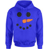 Snowman Smiling Face With Carrot Adult Hoodie Sweatshirt