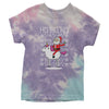 Ho Ho Ho Santa Riding A Unicorn Ugly Christmas Youth Tie-Dye T-shirt