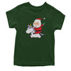 Playful Santa Claus Riding A Unicorn Youth T-shirt