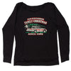Fun Old Fashion Family Christmas  Slouchy Off Shoulder Oversized Sweatshirt