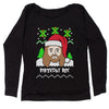 Jesus Birthday Boy Ugly Christmas Slouchy Off Shoulder Oversized Sweatshirt