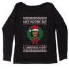 Tupac Ain't Nothing But A Christmas Party Slouchy Off Shoulder Sweatshirt