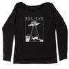 UFO Believe - Unicorn Beam Me Up Slouchy Off Shoulder Sweatshirt