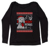 Merry Pitmas Pitbull Ugly Christmas Holiday  Slouchy Off Shoulder Sweatshirt